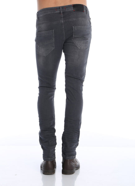 RON TOMSON - Distressed Moto-Patched Skinny Jeans - Grey - RNT23 - 2