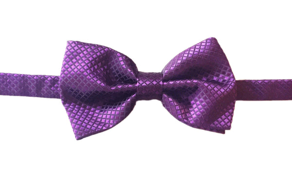 Diamond Evening Bowtie - Purple