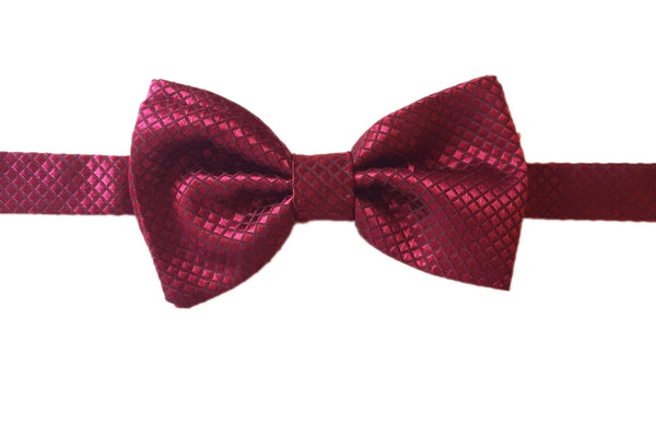 Diamond Evening Bowtie - Wine