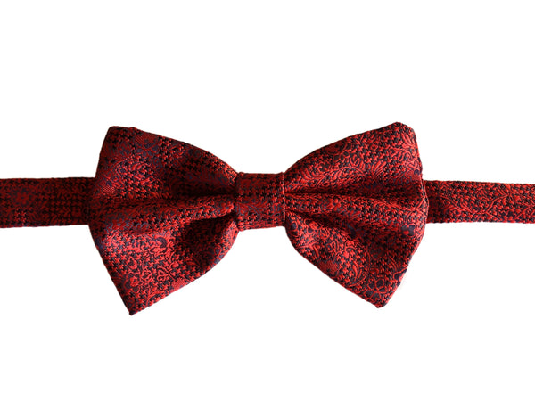 Floral Evening Bowtie - Red