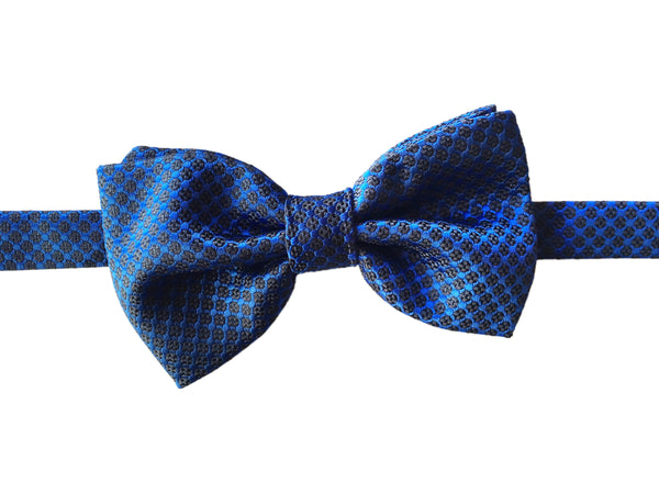 Floral Evening Bowtie - Blue