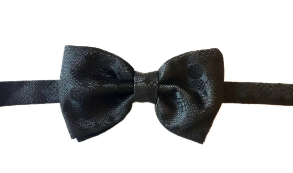 Geometric Evening Bowtie - Black