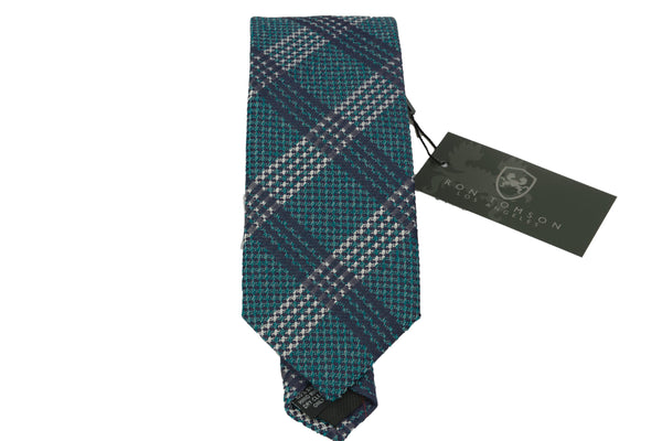Silk Print Tie - DARK GREEN