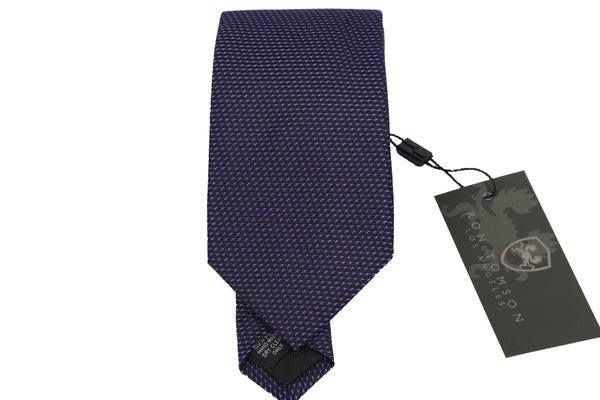 Silk Print Tie - PURPLE