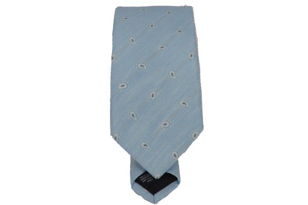 Silk Print Tie - light blue