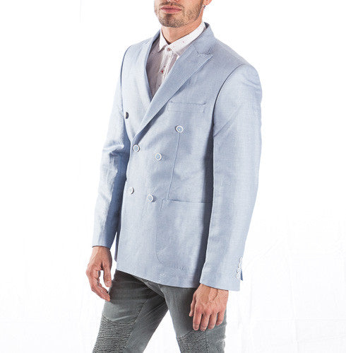 RON TOMSON - Peak Lapel Double Breasted Cotton Jacket - RNT23 - 7