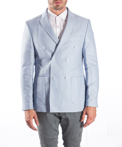 RON TOMSON - Peak Lapel Double Breasted Cotton Jacket - RNT23 - 6