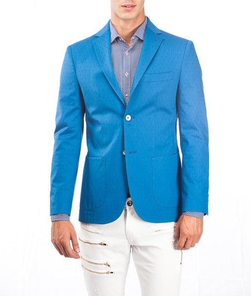 RON TOMSON - Notch Lapel Slim fit Cotton Jacket - RNT23 - 1