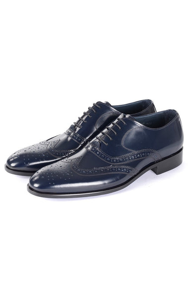 RON TOMSON - Navy Front Ornament Leather Dress Shoes - RNT23 - 2