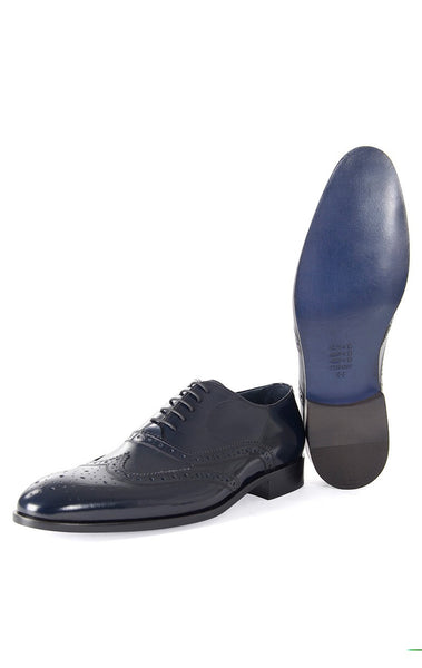 RON TOMSON - Navy Front Ornament Leather Dress Shoes - RNT23 - 1
