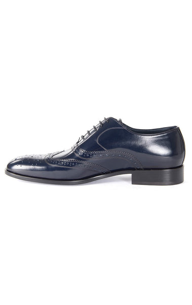 RON TOMSON - Navy Front Ornament Leather Dress Shoes - RNT23 - 3