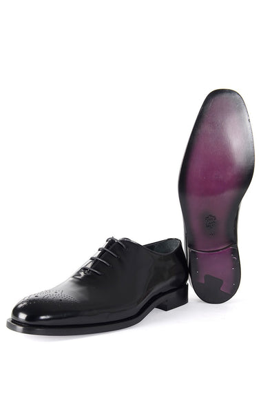 RON TOMSON - Black Front Ornament Leather Dress Shoes - RNT23 - 1