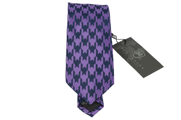 Microfiber Print Tie - Light Purple