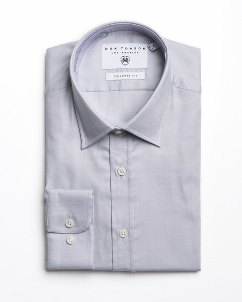 Italian Collar Dress Shirt - Grey