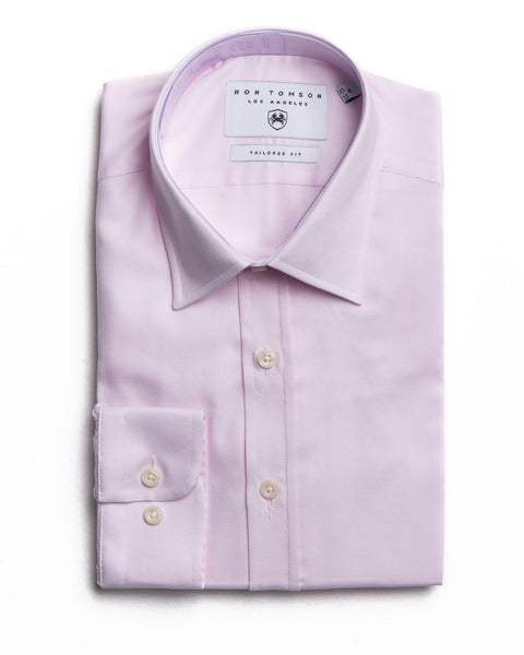 Italian Collar Dress Shirt - Pink 2
