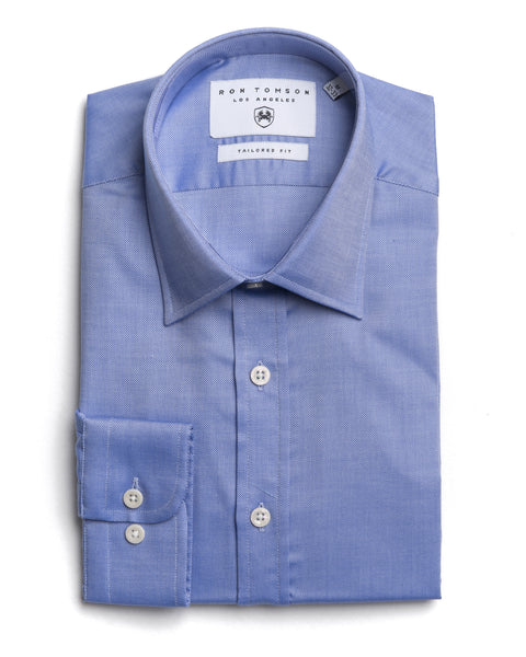 Italian Collar Dress Shirt - Weoliym Blue