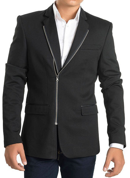 RON TOMSON - Double Zipper Blazer - Silver Zipper - RNT23 - 1