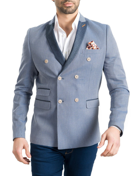 RON TOMSON - Contrast Lapel Double Breasted Blazer - RNT23 - 6