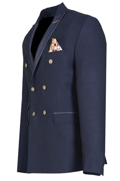 RON TOMSON - Contrast Lapel Double Breasted Blazer - RNT23 - 4