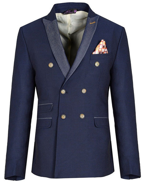 RON TOMSON - Contrast Lapel Double Breasted Blazer - RNT23 - 2