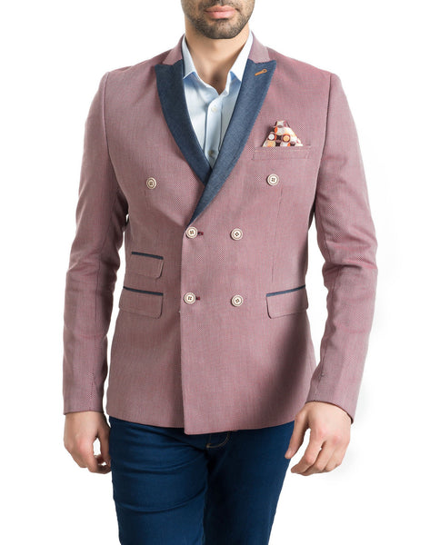RON TOMSON - Contrast Lapel Double Breasted Blazer - RNT23 - 9