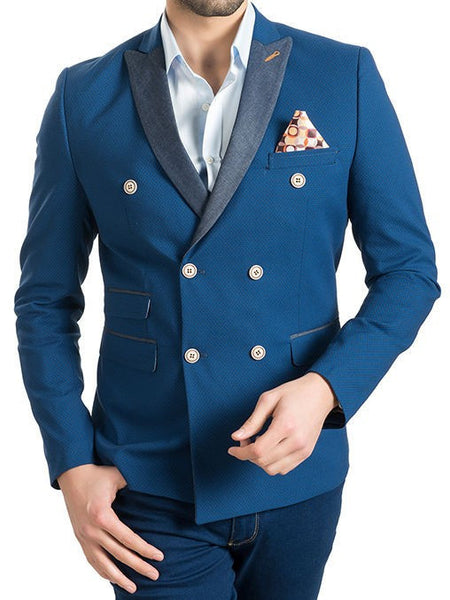 RON TOMSON - Contrast Lapel Double Breasted Blazer - RNT23 - 7