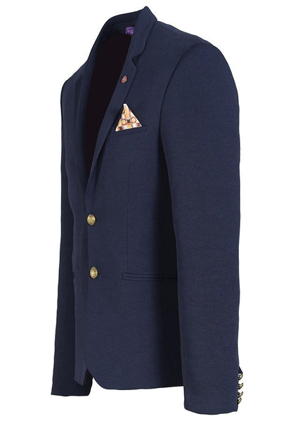 RON TOMSON - Gold Button Fitted Blazer - RNT23 - 6
