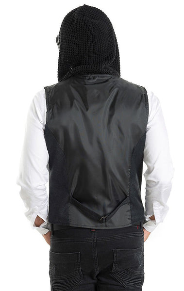 RON TOMSON - Hooded Mixed Media Vest - RNT23 - 5