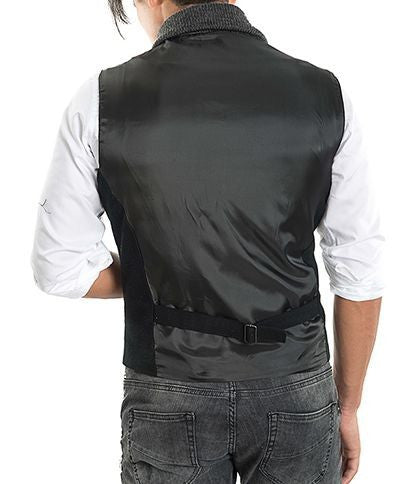 RON TOMSON - Shawl Lapel Double Breasted Vest - RNT23 - 2