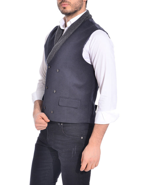 RON TOMSON - Shawl Lapel Double Breasted Vest - RNT23 - 4