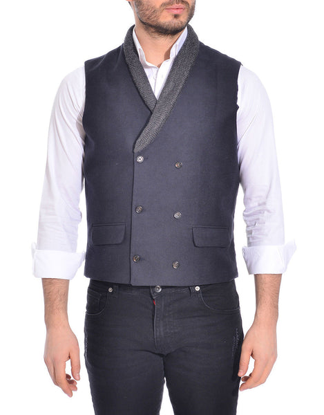 RON TOMSON - Shawl Lapel Double Breasted Vest - RNT23 - 3