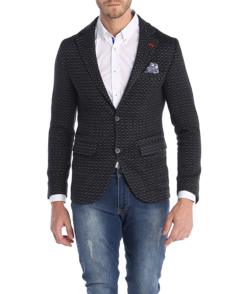 RON TOMSON - Notch Lapel Pattern Blazer - RNT23 - 1