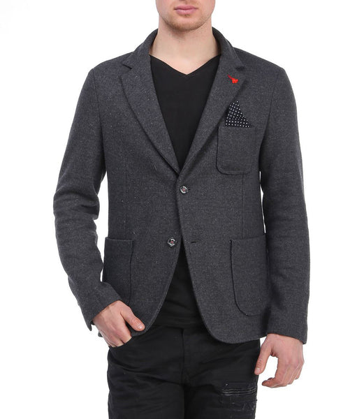 RON TOMSON - Wool Blend Slim Fit Casual Blazer - RNT23 - 1