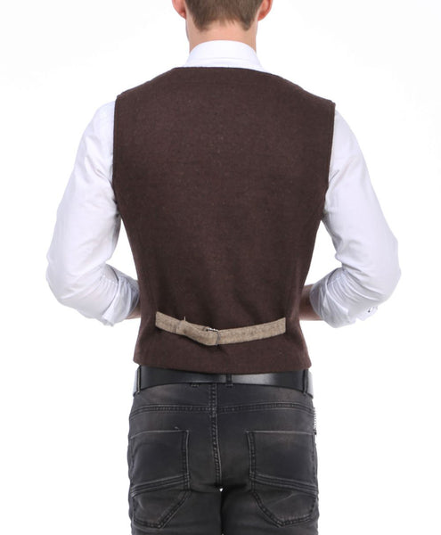 RON TOMSON - Layered Look Slim Fit Vest - RNT23 - 5