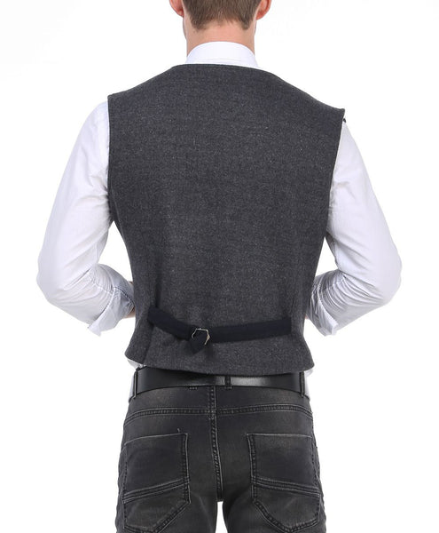RON TOMSON - Layered Look Slim Fit Vest - RNT23 - 3