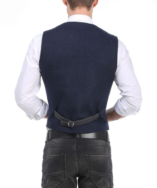 RON TOMSON - Layered Look Slim Fit Vest - RNT23 - 7