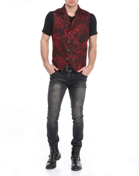 RON TOMSON - Mixed Media Double Breasted Vest - RNT23 - 4