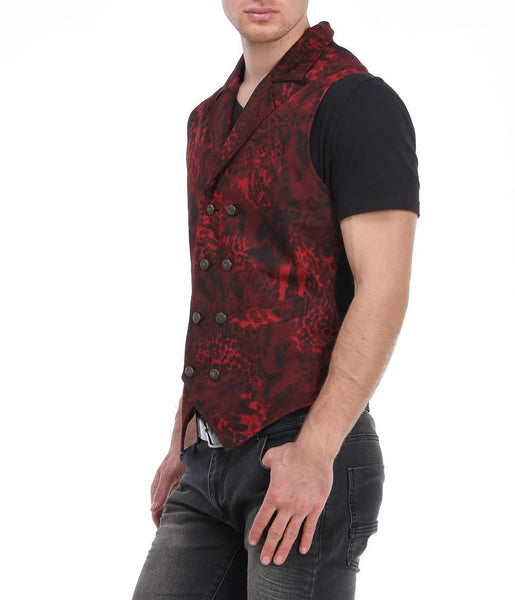 RON TOMSON - Mixed Media Double Breasted Vest - RNT23 - 2