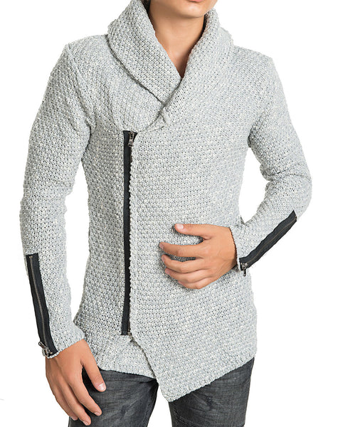 RON TOMSON - Zipper Closure Fitted Cardigan - RNT23 - 1