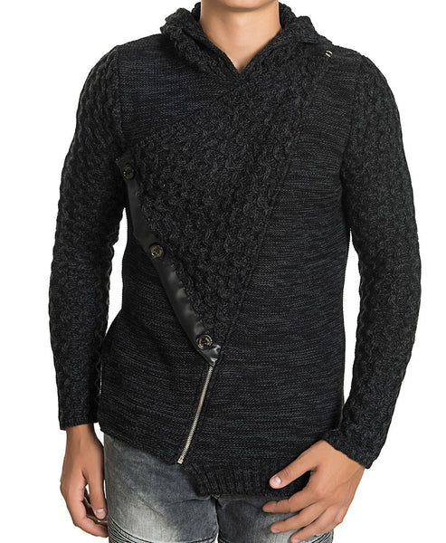 RON TOMSON - Asymmetric Closure Fitted Sweater - RNT23 - 1