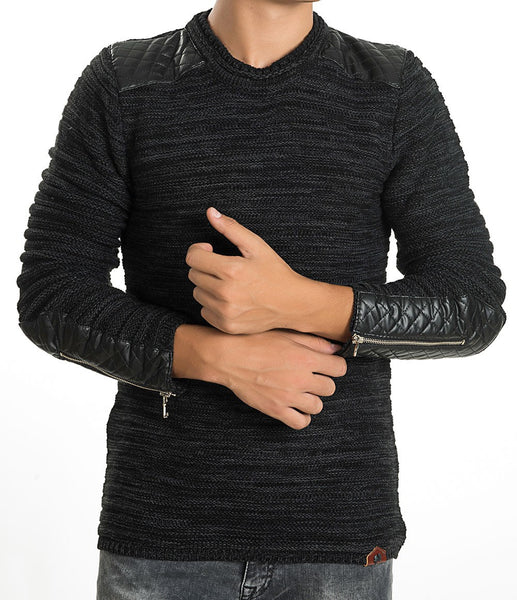 RON TOMSON - Patch Shoulder Fitted Sweater - RNT23 - 4