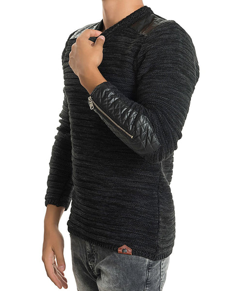 RON TOMSON - Patch Shoulder Fitted Sweater - RNT23 - 5