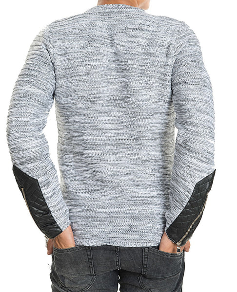 RON TOMSON - Patch Shoulder Fitted Sweater - RNT23 - 3