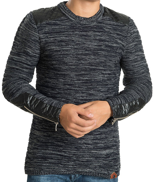 RON TOMSON - Patch Shoulder Fitted Sweater - RNT23 - 6