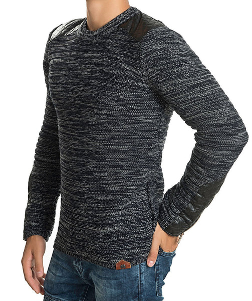 RON TOMSON - Patch Shoulder Fitted Sweater - RNT23 - 8
