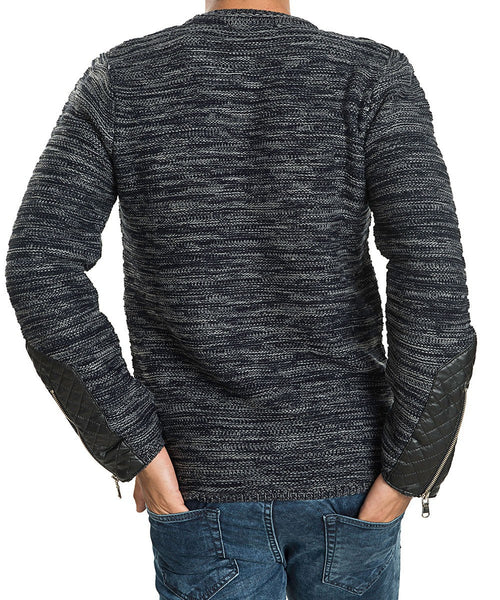 RON TOMSON - Patch Shoulder Fitted Sweater - RNT23 - 9