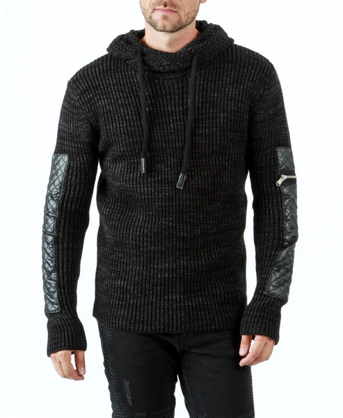 RON TOMSON - Quilted Patch Sleeve Sweater - RNT23 - 1