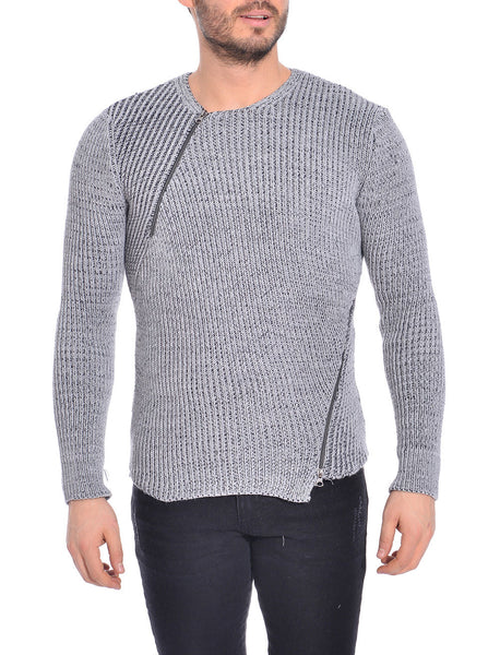 RON TOMSON - Asymmetric Zipper Fitted Sweater - RNT23 - 1