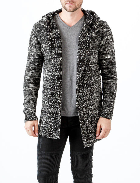 RON TOMSON - Salt and Pepper Hooded Cardigan - RNT23 - 1