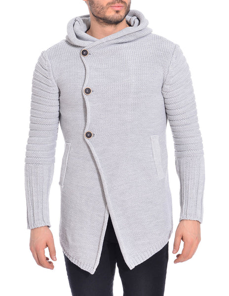 RON TOMSON - Side Button Closure Hooded Cardigan - RNT23 - 1